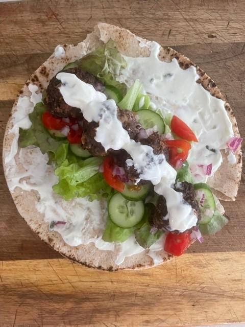 Greek Meatball Pitas